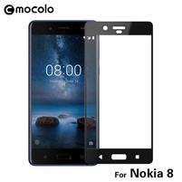 MLC celoplošné ochranné sklo na Nokia 8 - čierny lem
