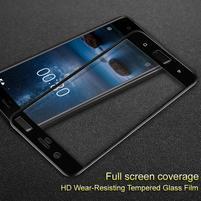 IMK celoplošné tvrdené sklo na displej Nokia 8 - čierny lem