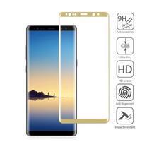 AGB celoplošné tvrdené sklo na displej Samsung Galaxy Note 8 - zlatý lem