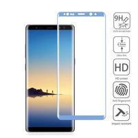 AGB celoplošné tvrdené sklo na displej Samsung Galaxy Note 8 - modrý lem