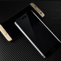 M3D fixačné celoplošné tvrdené sklo na Samsung Galaxy S6 edge - čierny lem