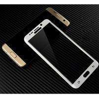 M3D fixačné celoplošné tvrdené sklo na Samsung Galaxy S6 edge - biely lem