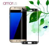 AMR celoplošné fixační tvrdené sklo na Samsung Galaxy S7 edge - čierny lem