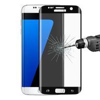 Full celoplošné tvrdené sklo na displej Samsung Galaxy S7 Edge - čierny lem