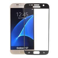 SFF 8 celoplošné tvrdené sklo na displej na Samsung Galaxy S7 - čierny lem