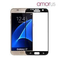 AMOR celoplošné tvrdené sklo na Samsung Galaxy S7 - čierny lem
