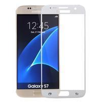 SFF 8 celoplošné tvrdené sklo na displej na Samsung Galaxy S7 - biely lem