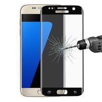 Full celoplošné tvrdené sklo na displej Samsung Galaxy S7 - čierny lem