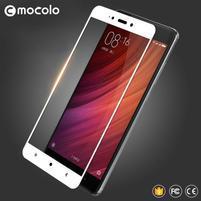 MLC celoplošné tvrdené sklo na Xiaomi Redmi Note 4 - biely lem