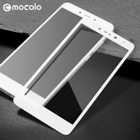 MLC celoplošné ochranné tvrdené sklo na Xiaomi Redmi Note 5A - biele