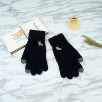 Full dotykové rukavice všetkými prstami - čierne