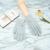 Full dotykové rukavice všetkými prstami - svetlosivé