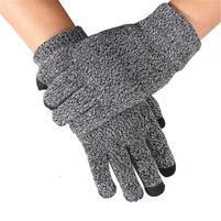 No5 rukavice na dotykové displeje - sivé