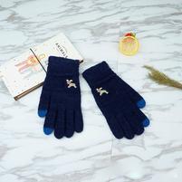 Full dotykové rukavice všetkými prstami - tmavomodré