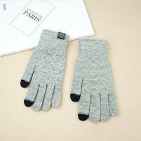 Full pánské dotykové rukavice na mobil/tablet všetkými prstami - sivé