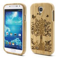 Drevené puzdro rozepínací pre Samsung Galaxy S4 - stromeček