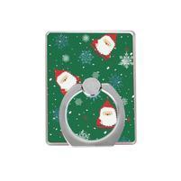 Santa vianočný držiačik na prst pre mobilné telefony - zelený