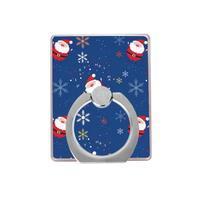 Santa držiačik na prst pre mobilné telefony - modrý