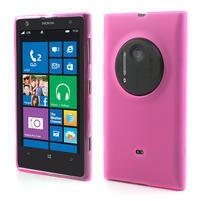 Gélové matné puzdro pre Nokia Lumia 1020- ružové