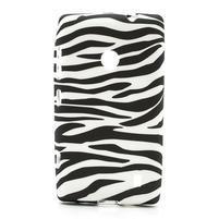 Gélové puzdro na Nokia Lumia 520- zebra