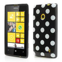 Gélové PUNTÍK puzdro na Nokia Lumia 520- čierné