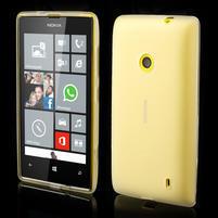Gélové matné puzdro na Nokia Lumia 520 - biele