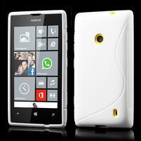 Gélové S-line puzdro na Nokia Lumia 520- biele