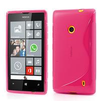Gélové S-line puzdro na Nokia Lumia 520- ružové