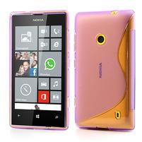 Gélové S-line puzdro na Nokia Lumia 520- fialové