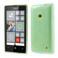 Gélové kartáčové puzdro na Nokia Lumia 520- zelenomodré