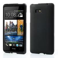 Gélové matné puzdro pre HTC Desire 600- čierné