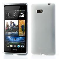 Gélové matné puzdro pre HTC Desire 600- biele