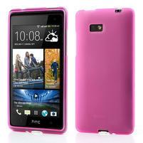 Gélové matné puzdro pre HTC Desire 600- ružové