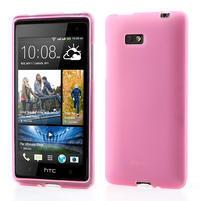 Gélové matné puzdro pre HTC Desire 600- svetloružové