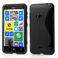Gélové S-line puzdro pre Nokia Lumia 625- čierné