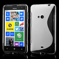 Gélové S-line puzdro pre Nokia Lumia 625- transparentný