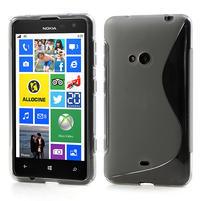 Gélové S-line puzdro pre Nokia Lumia 625- sivé