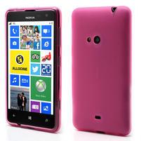 Gélové matné puzdro pre Nokia Lumia 625- ružové