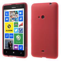 Gélové matné puzdro pre Nokia Lumia 625- červené