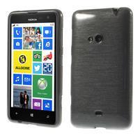 Gélové kartáčové puzdro na Nokia Lumia 625 - sivé