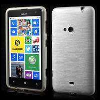 Gélové kartáčové puzdro na Nokia Lumia 625 - biele