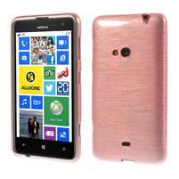 Gélové kartáčové puzdro na Nokia Lumia 625 - svetleružové