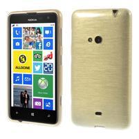 Gélové kartáčové puzdro na Nokia Lumia 625 - zlaté