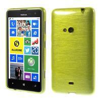 Gélové kartáčové puzdro na Nokia Lumia 625 - zelené