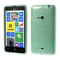Gélové kartáčové puzdro na Nokia Lumia 625 - cyan