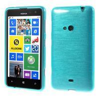 Gélové kartáčové puzdro na Nokia Lumia 625 - modré
