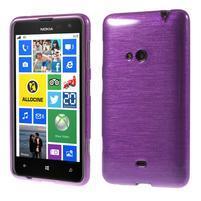 Gélové kartáčové puzdro na Nokia Lumia 625 - fialové