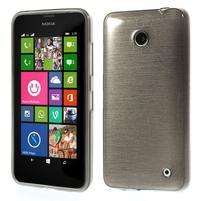 Gélové Kartáčové puzdro na Nokia Lumia 630- šedé