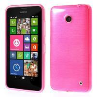 Gélové Kartáčové puzdro na Nokia Lumia 630- růžové