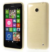 Gélové Kartáčové puzdro na Nokia Lumia 630- zlatavé